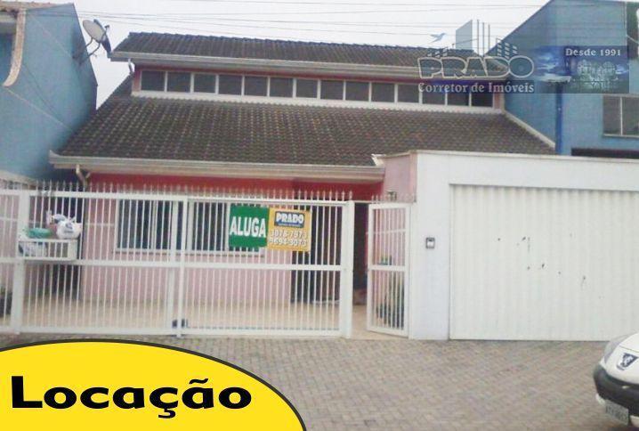 Casa  comercial para locação, Sítio Cercado, Curitiba.