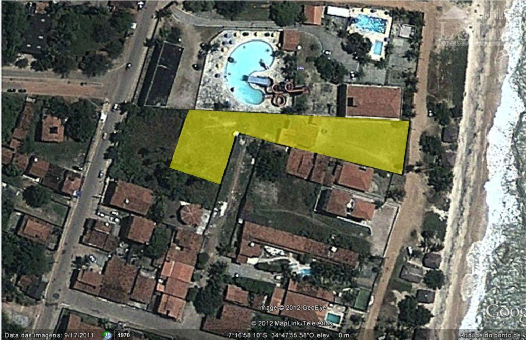 terreno na beira mar de jacumã(pé na areia) com 3.476m, casa usada, local tranquilo, totalmente plano,...
