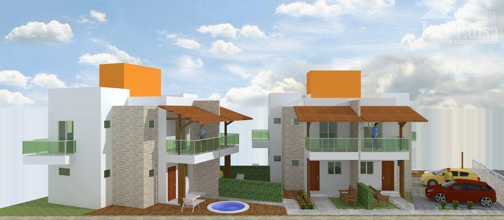 4 casas na praia de carapibus, com 78,63 m²cada, 2 suítes com varanda com frente e...
