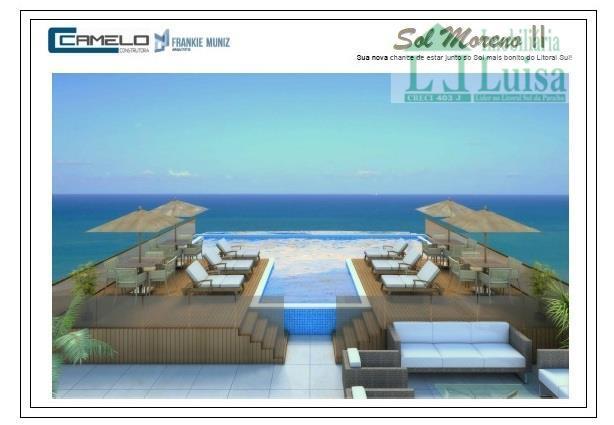 apartamento na praia de carapibus, com 49 m², 2 dormitórios, sendo 1 suite, sala e cozinha,...