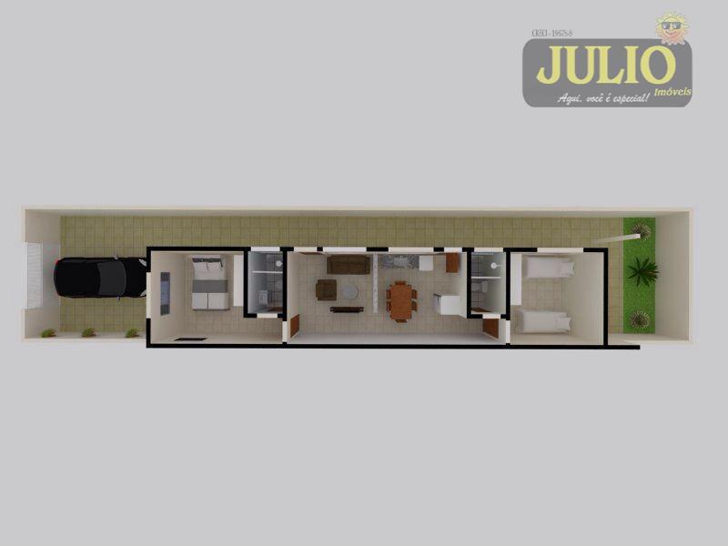 Casa 2 Dorm, Jussara, Mongaguá (CA2552) - Foto 6