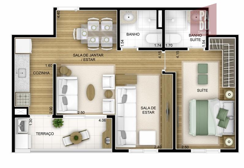 Apartamento de 2 dormitórios à venda em Super Quadra Morumbi, São Paulo - SP