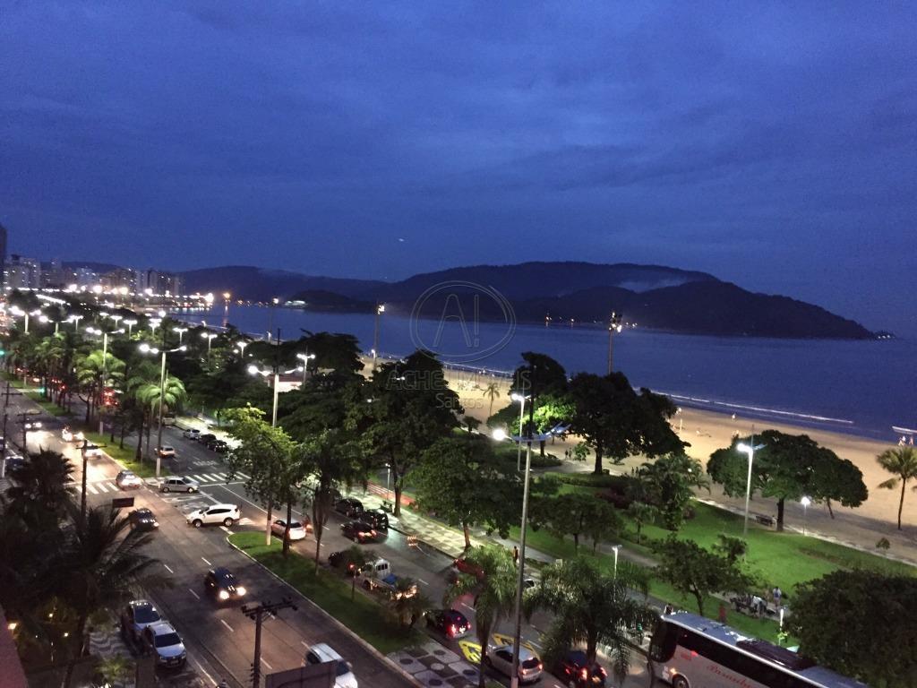 Apartamento  residencial à venda, vista mar,  Aparecida, Santos.