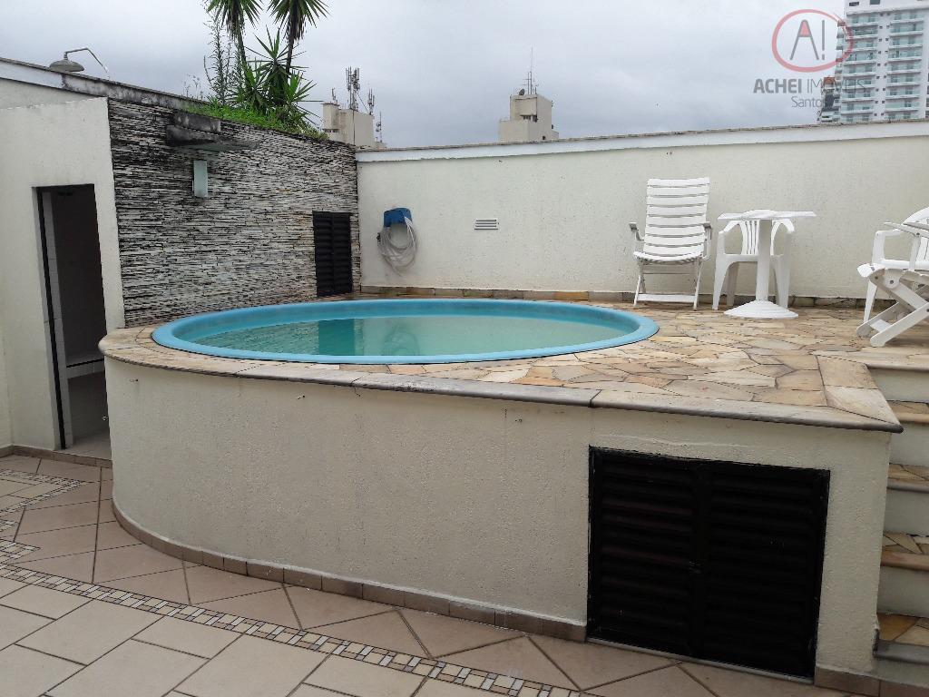 Cobertura  residencial para venda e locação, Boqueirão, Santos.