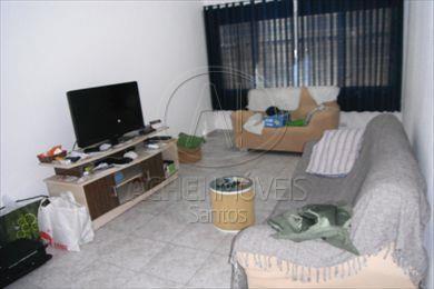 Apartamento Residencial à venda, 2 dormitórios 1 suite e 1 vaga,Gonzaga, Santos