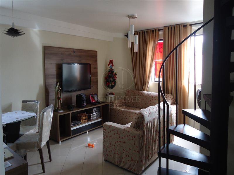 Apartamento Residencial à venda, 2 dorms, 1 suite, churrasqueira. Embaré, Santos - AP4993.