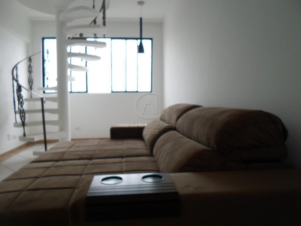 Cobertura residencial para venda e locação, 3 dormitórios sendo 2 suítes e 1 vaga demarcada , Marapé, Santos