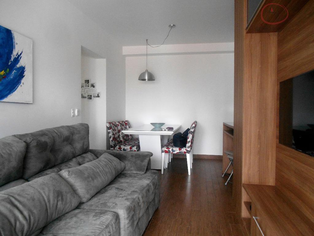 Apartamento à venda com lazer e 02 vagas, Boqueirão, Santos - AP6597.