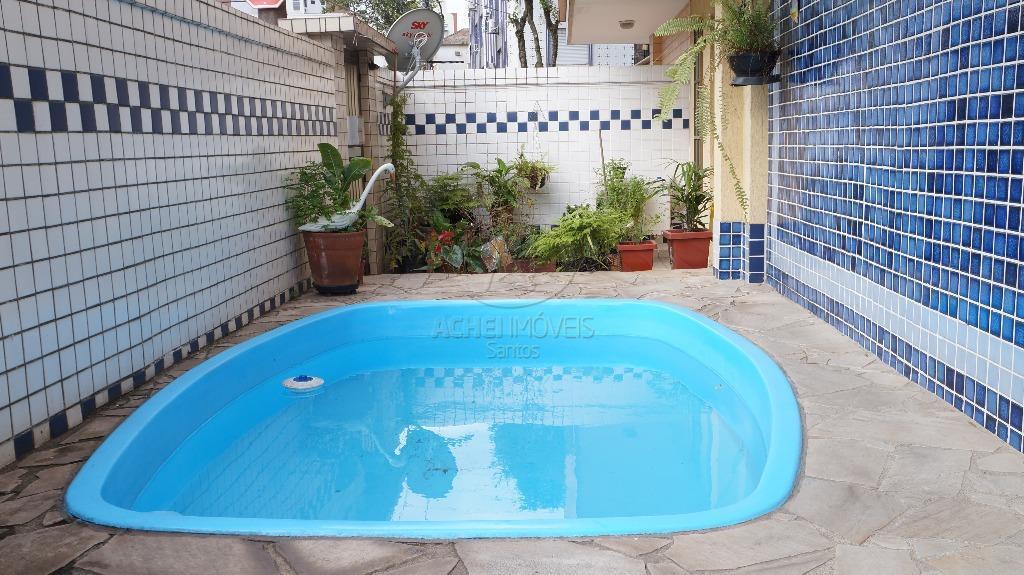 Casa residencial à venda, sobreposta terrea e 1º andar, Ponta da Praia, Santos, 4 dormitórios.