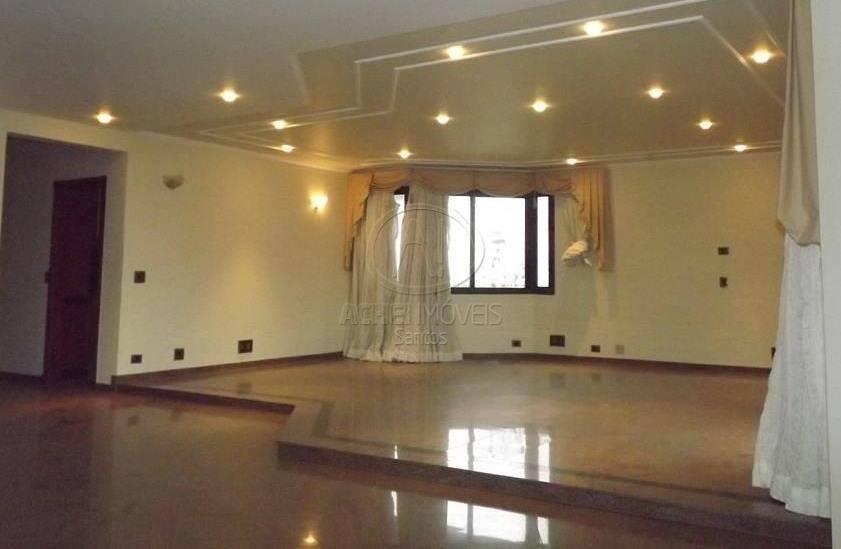 Apartamento residencial à venda, 4 suites, 4 vagas, varanda gourmet, vista mar, Embaré, Santos.