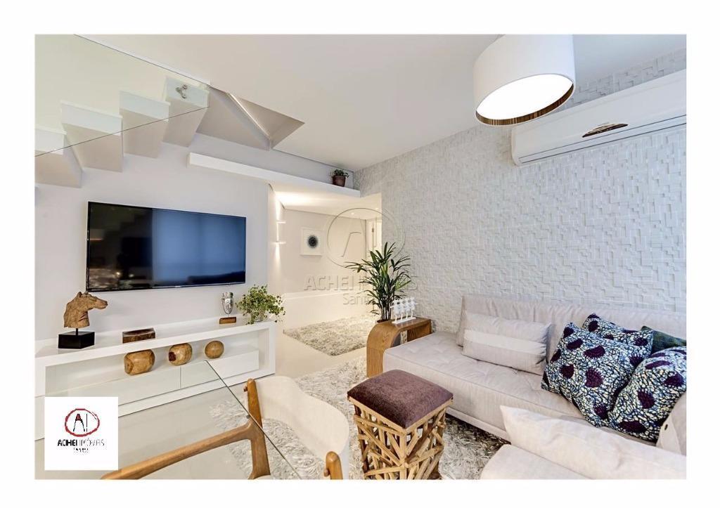 Cobertura residencial à venda, duplex, 3 dorms, 2 suites, 4 vagas, piscina, Pompeia, Santos - CO0022.