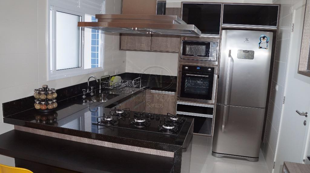Apartamento residencial à venda, 3 dorms, 3 suites, porteira fechada, lazer completo, 2 vagas, Aparecida, Santos.