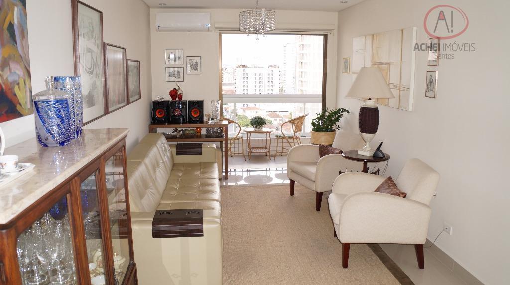 Apartamento Residencial à venda, 2 dorms, 1 suite com closet, reformado, lazer completo, garagem dem Boqueirão, Santos - AP4794.