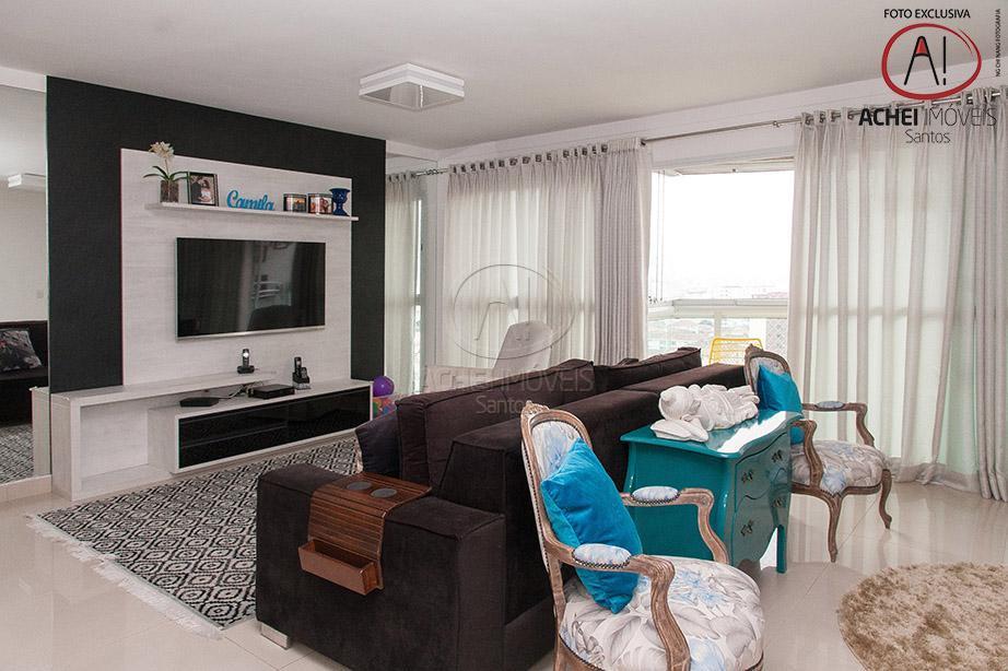 Lindissimo apartamento, sala, varanda gourmet, 3 suites, closet, lazer completo, 2 vagas, Embaré, Santos.