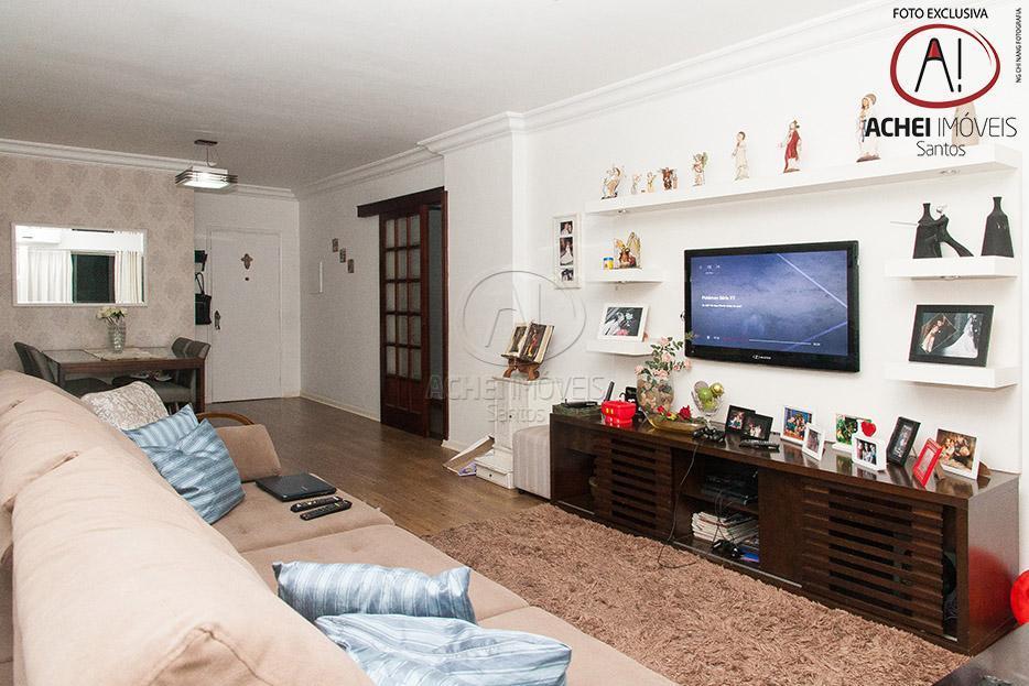 Apartamento residencial à venda, 3 dorms, 1 suite, piscina, Campo Grande, Santos.