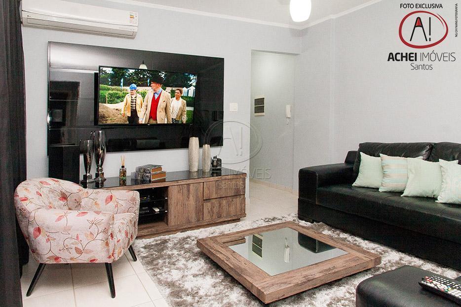 Apartamento residencial à venda, 2 dorms, 2 banheiros, 1 vaga, piscina e salão de festas, Campo Grande, Santos.