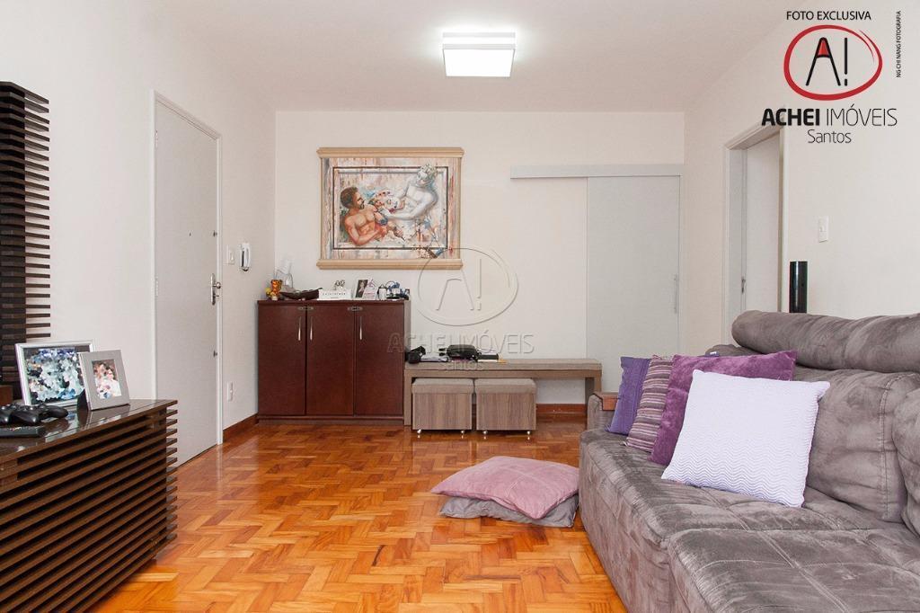 Apartamento Residencial à venda, 3 dorms, 2 banheiros, amplo, 1 vaga, excelente localização, Ponta da Praia, Santos - AP6033.