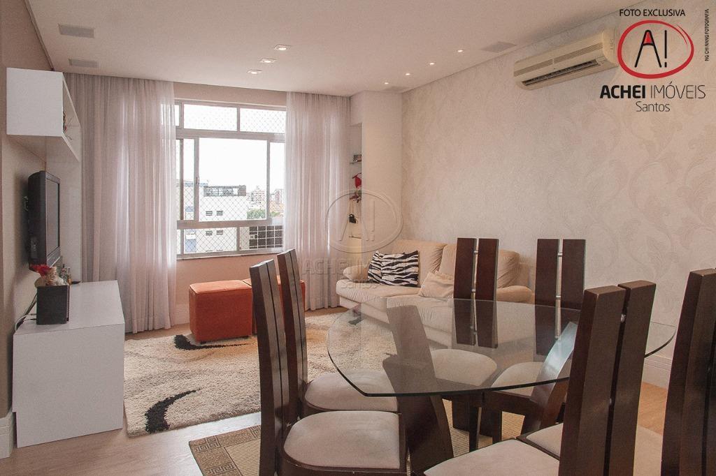 Apartamento residencial à venda, 110m2, 2 suites, dep. completa, garagem demarcada, Embaré, Santos.