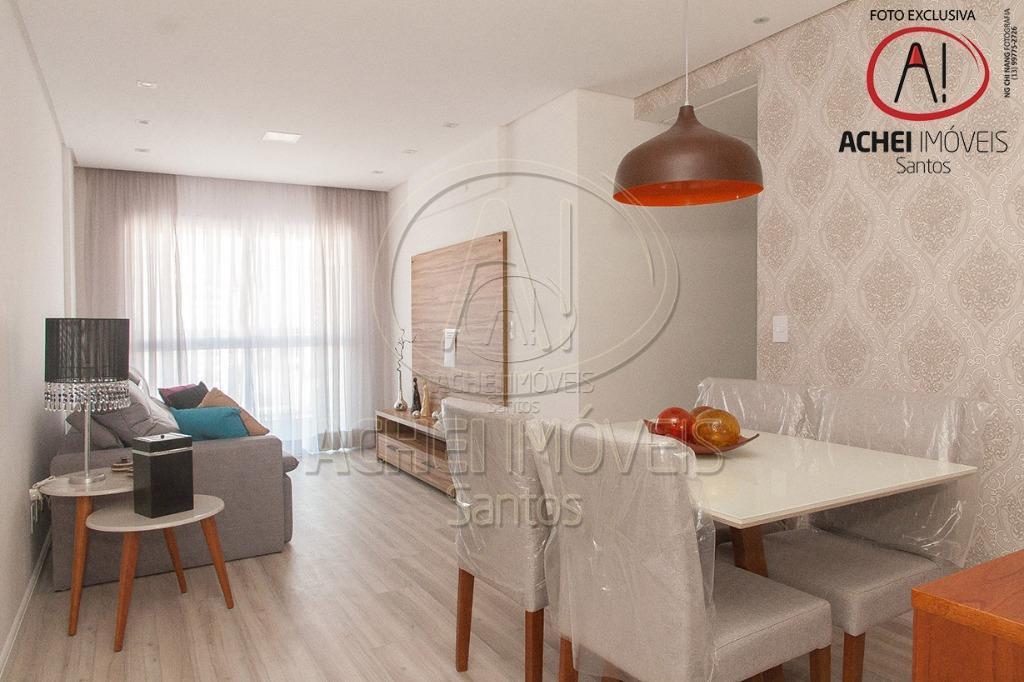 Apartamento residencial à venda, 2 dorms, 1 suite, varanda, 1 vaga, lazer completo, Embaré, Santos.