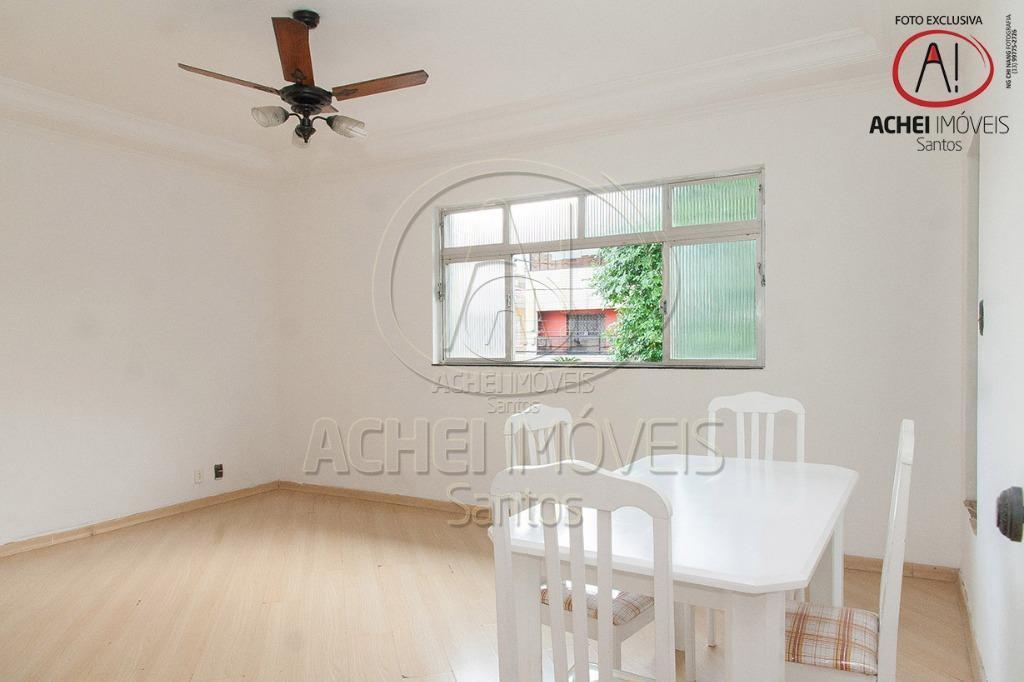 Casa residencial à venda, quintal frontal, 2 dormitórios, excelente localização, Campo Grande, Santos - CA1312.