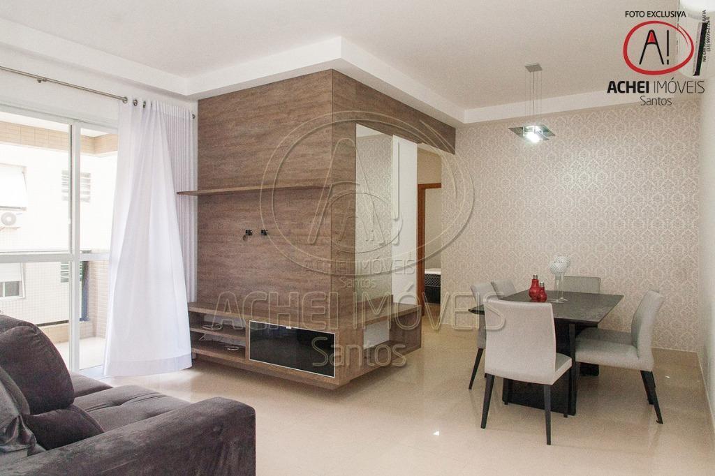 Apartamento residencial à venda, 2 dorms, 1 suites, 2 vagas, varanda, Lazer Completo, Pompéia, Santos.