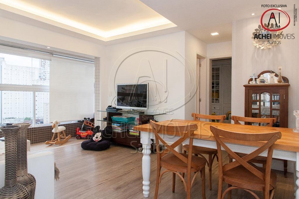 Apartamento residencial à venda, 2 dormitórios com 1 vaga demarcada, Gonzaga, Santos.