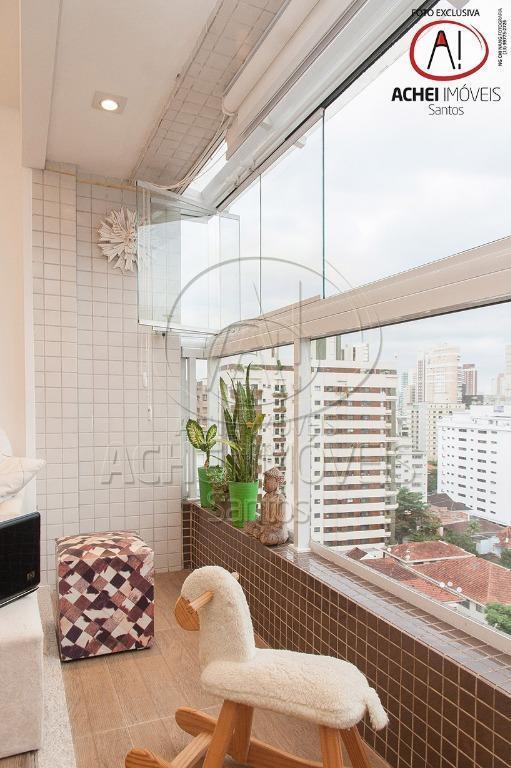 apartamento em santos no bairro do gonzaga, com 2 dormitórios sendo 1 suíte muito bem localizado...