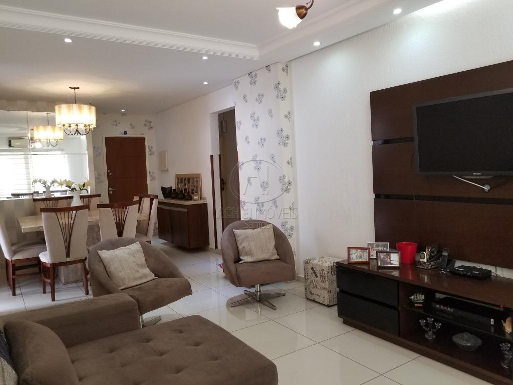 Apartamento residencial à venda, 3 dorms, 1 suite, todo reformado, 1 vaga, piscina e salão de festas, Campo Grande, Santos.