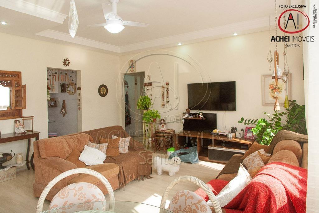 Apartamento residencial à venda, 3 dorms, 1 suite, dep. revertida, 2 vagas demarcadas escrituradas, Boqueirão, Santos.