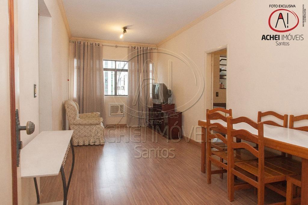 Apartamento residencial para venda, 1 dorm. c/ armario embutido, sala 2 ambientes, 2 banheiros, garagem dem., Boqueirão, Santos.