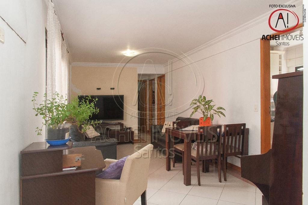 Apartamento residencial à venda, 3 dorms, 1 suite, 88m2, excelente localização, elevador, 1 vaga Aparecida, Santos.