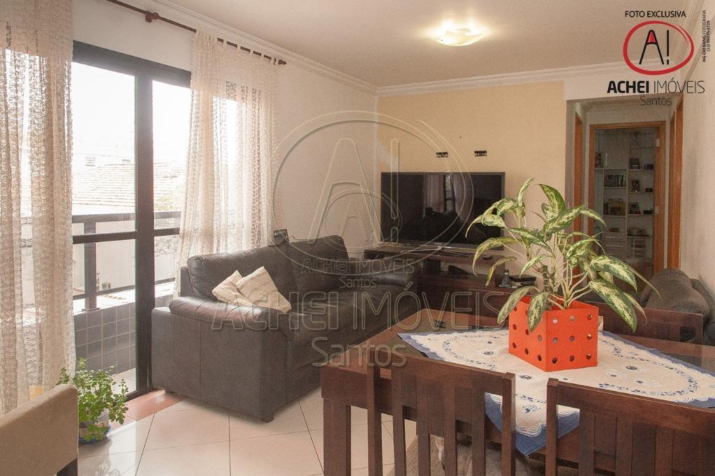 apartamento em santos, no bairro da aparecida, elevador, sala para 2 ambientes com sacada sendo 3...