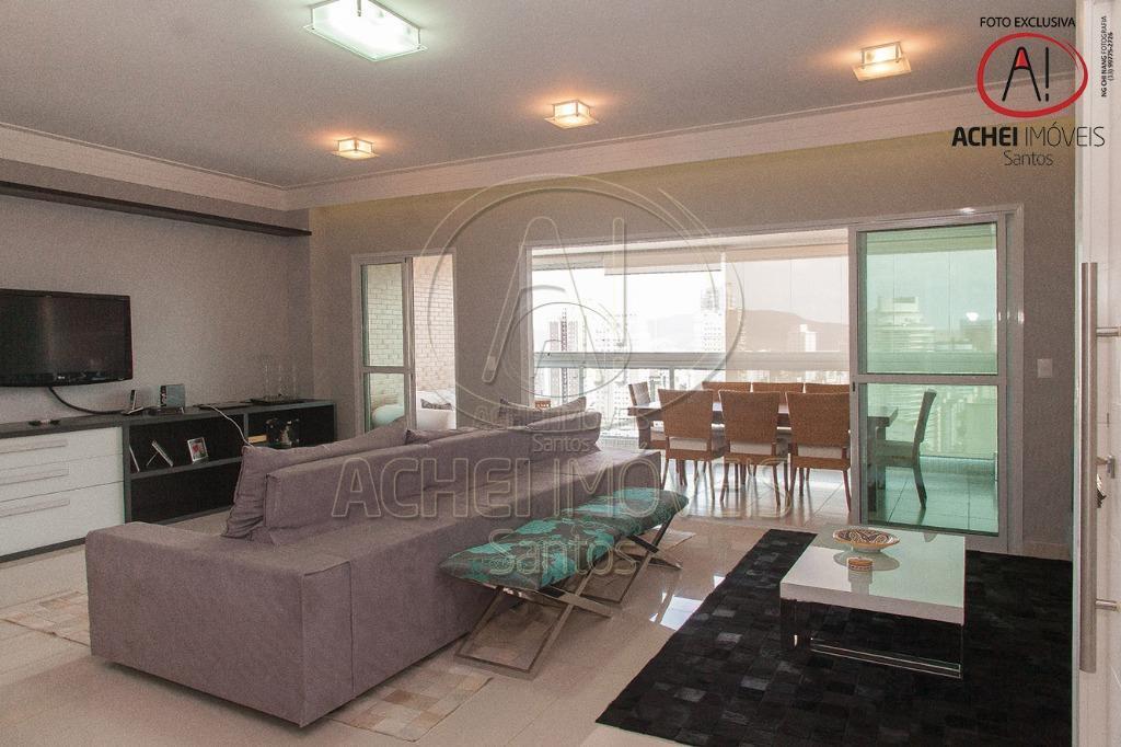 Apartamento com 3 suítes, 4 vagas, lazer completo, à venda, 178 m² por R$ 1.650.000 - Gonzaga - Santos/SP