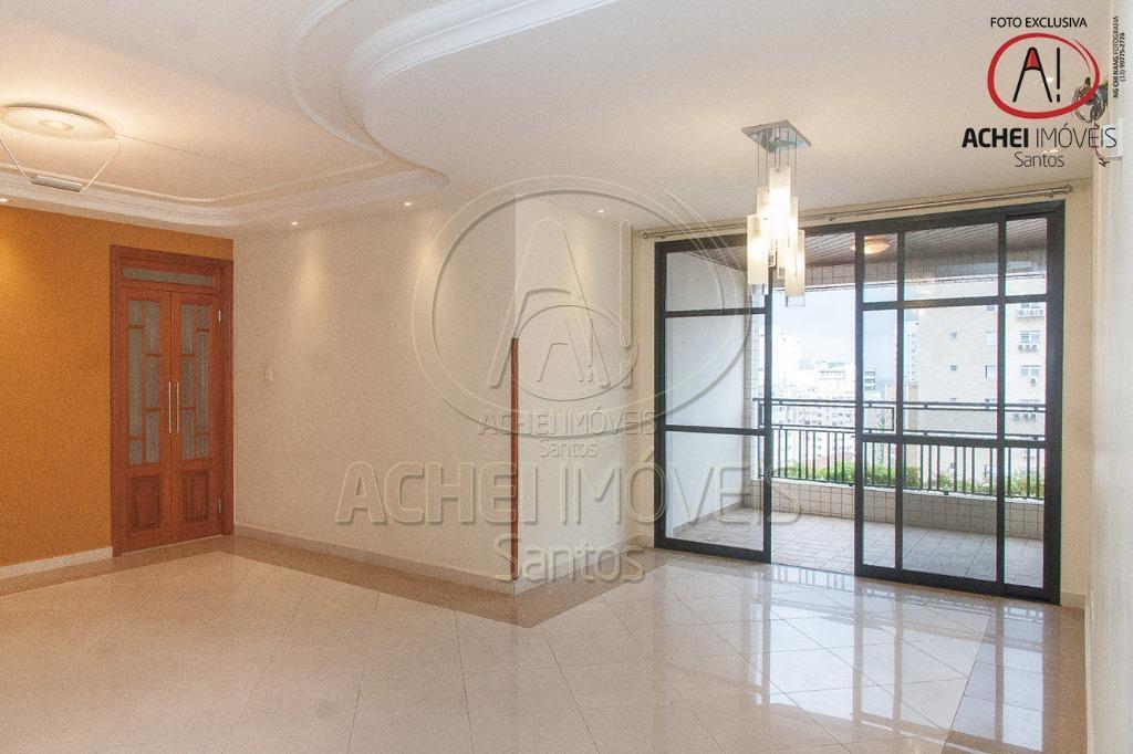 Apartamento residencial à venda, 3 dorms, 1 suite, varanda, vista livre, 3 vagas, salão de festas, Boqueirão, Santos.