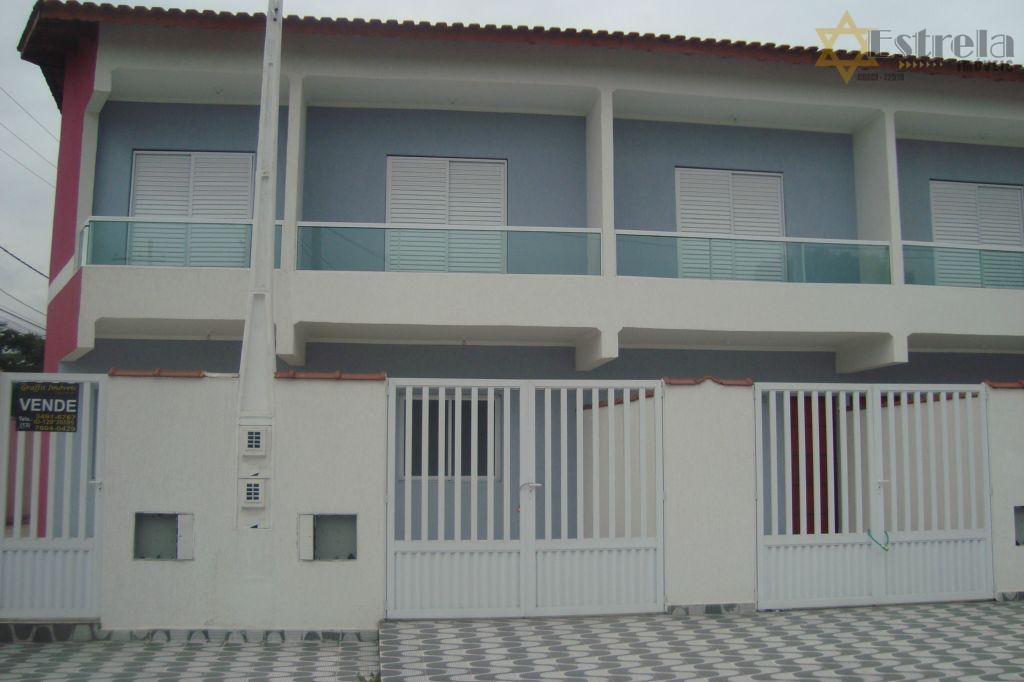 sobrado 2 dormitorios, novo, em praia grande no tude bastos