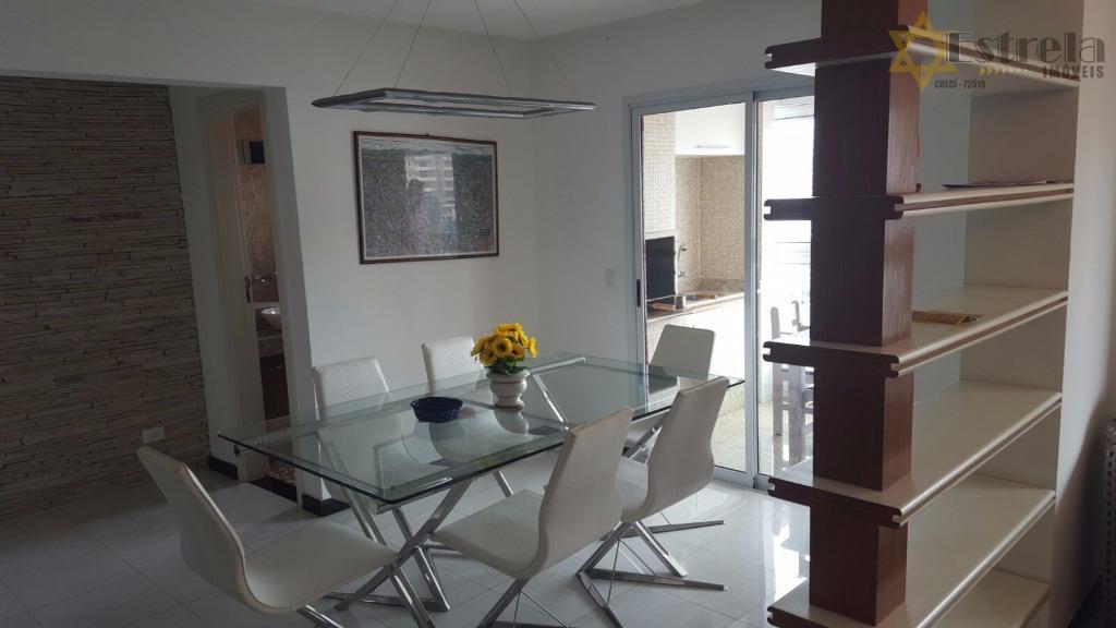 Maravilhoso apartamento mobiliado no Canto do Forte em Praia Grande alto padrão a 200 metros do Mar.