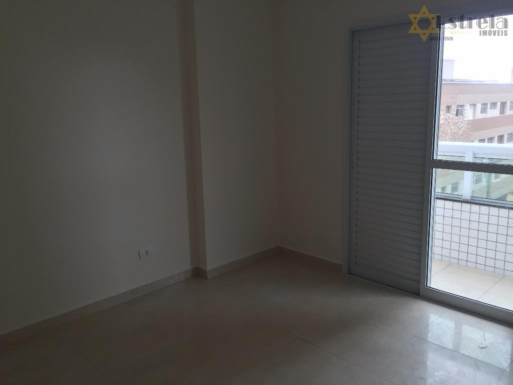 Apartamento residencial  02 dormitórios com suíte à venda, Vila caiçara Praia Grande - AP3229.