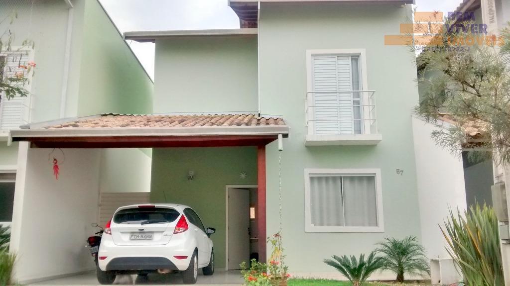 Linda casa de condomínio residencial à venda, com 3 dormitórios, área de lazer, Parque Santo Antônio, Taubaté.