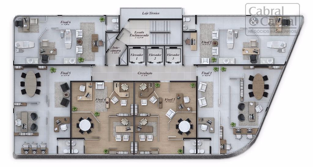 sala comercial com 47,90 m² de área privativa, e 01 vaga de garagem privativa, em empreendimento...