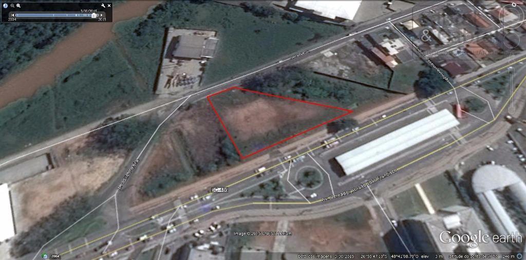terreno com 3.500,00 m², com 89,00 metros de frente para rodovia abraão joão francisco (contorno sul),...