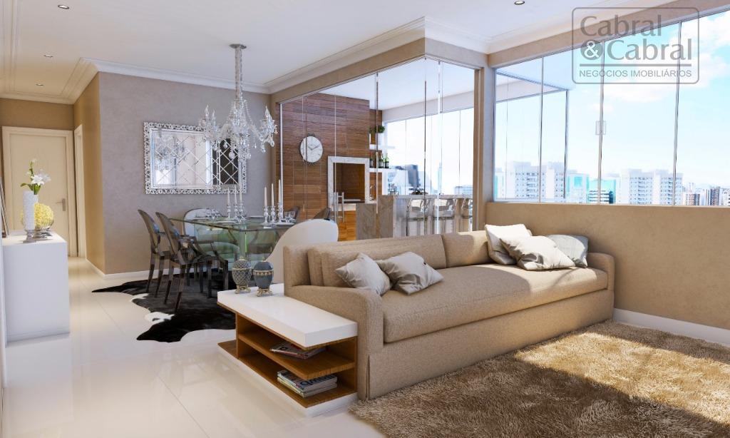 Apartamentos com 01 suíte, 02 dormitórios, sacada, demais dependências e 02 vagas de garagem.