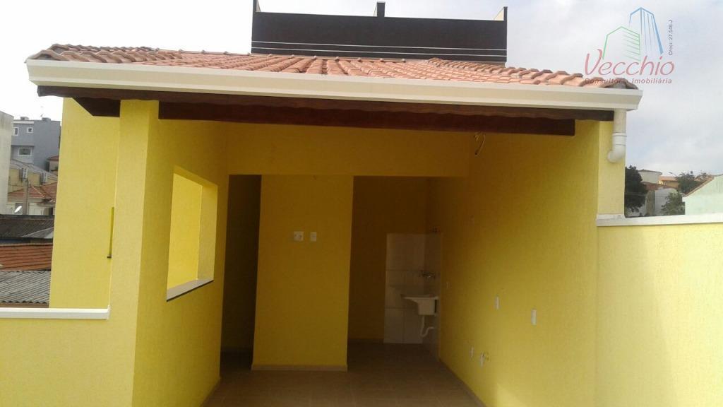 Cobertura residencial à venda, Vila Camilópolis, Santo André - CO0032.