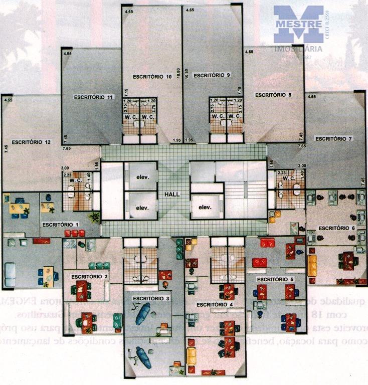 sala comercial com 42,82m2, 02 wcs, garagem sistema parking.próxima ao centro de guarulhos e fórum. fácil...