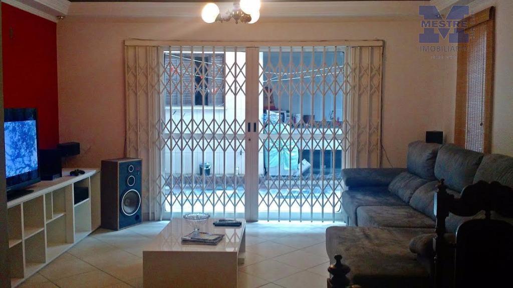 sobrado 03 dorms, sendo 02 suítes, piso laminado, sala 02 ambientes piso em granito, sacada, cozinha...