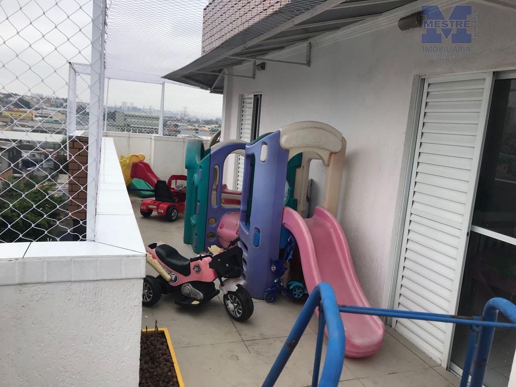 cobertura duplex na vila galvão, 04 dormitórios, sendo 2 suítes, salas 02 ambientes, varanda em volta...