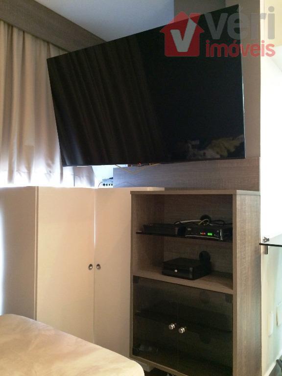 apto 34m² 1 dorm 1 vaga mobiliado totalmente por arquiteto. ar condicionado e tudo o que...