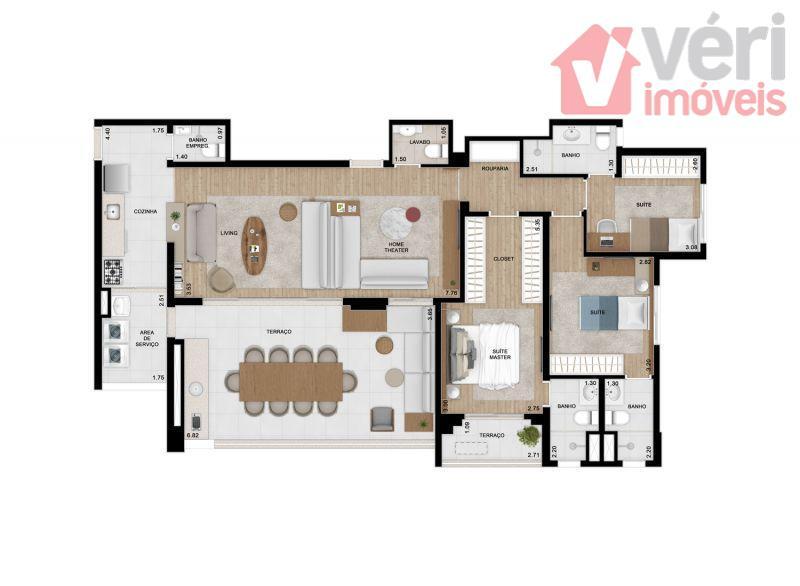 136m com 3 suites e sala ampliada