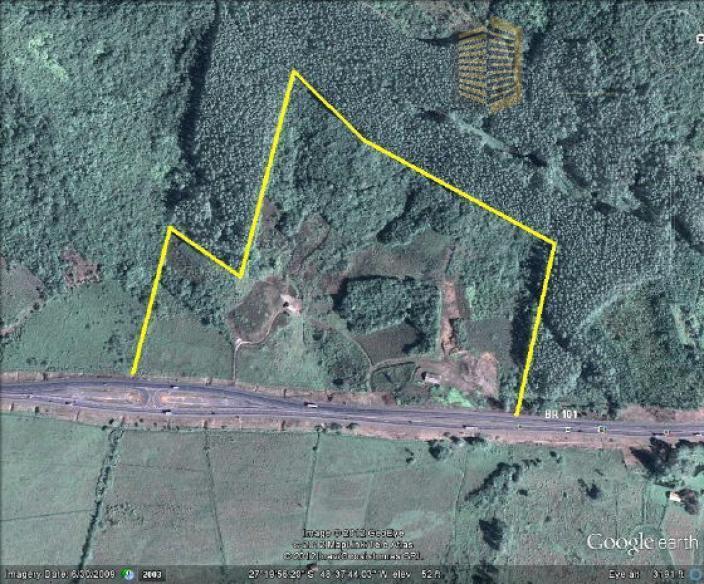 Grande oportunidade de investimento de terreno em frente à Br 101 em Tijucas!
