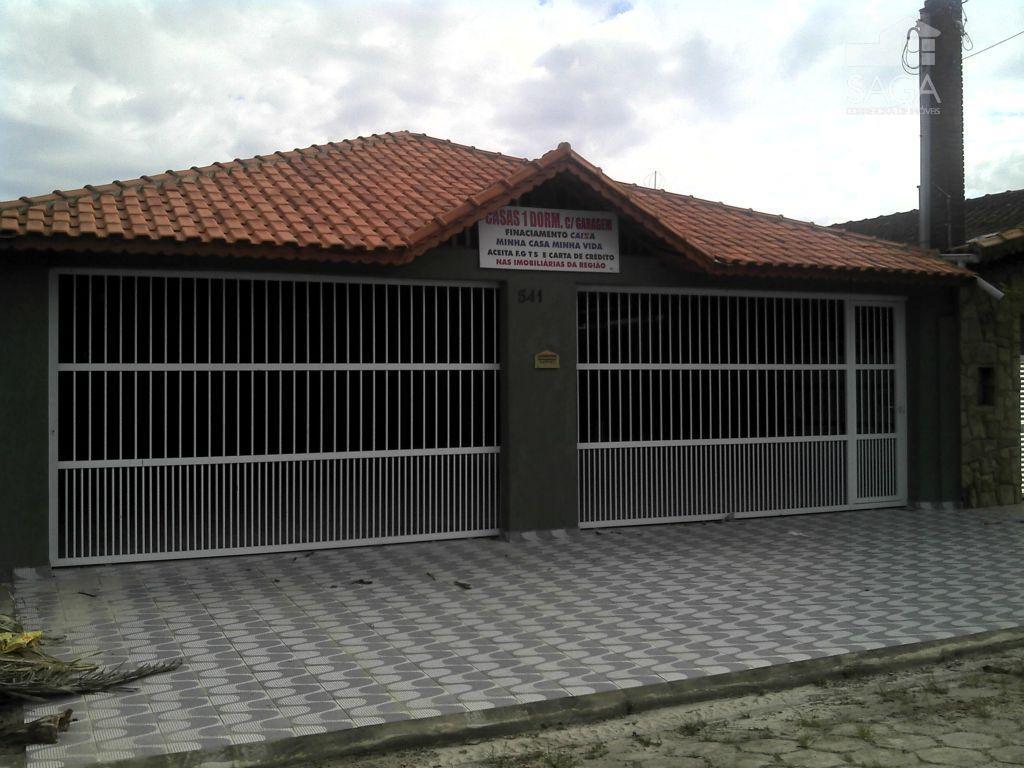 Casa  residencial à venda, 1 Dormitório, Condomínio Fechado, Financia, Balneário Maracanã, Praia Grande.