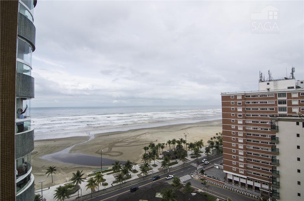 Lindo Apartamento de Frente para Praia, 2 Dormitórios, Sacada Gourmet,  na Vila Guilhermina, Praia Grande.